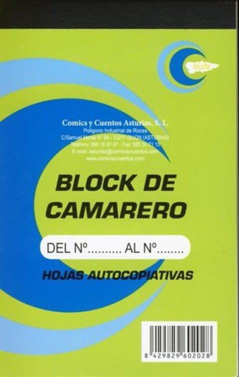 Comics y Cuentos - BLOCK DE CAMARERO VERDE - Comics y Cuentos