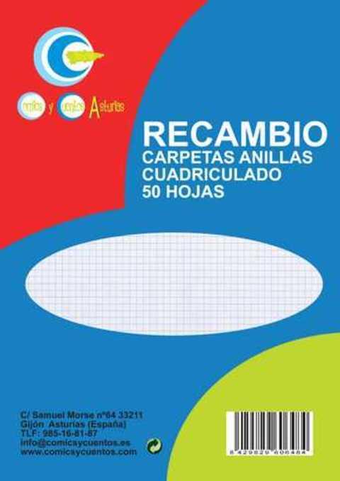 Comics y Cuentos - RECAMBIOS FOLIO 50 H CUADROS - Comics y Cuentos