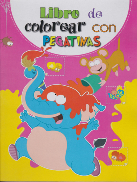 Comics y Cuentos - LIBRO DE COLOREAR CON PEGATINAS - Comics y Cuentos